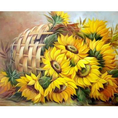 Kit pictura pe numere cu flori, Static nature