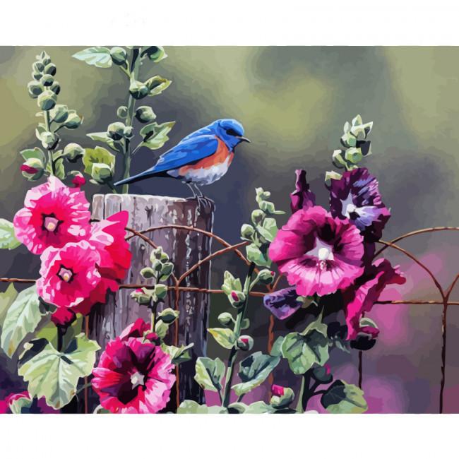 Kit pictura pe numere cu flori, Hibiscus