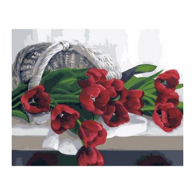 Kit pictura pe numere cu flori, Cherry tulip