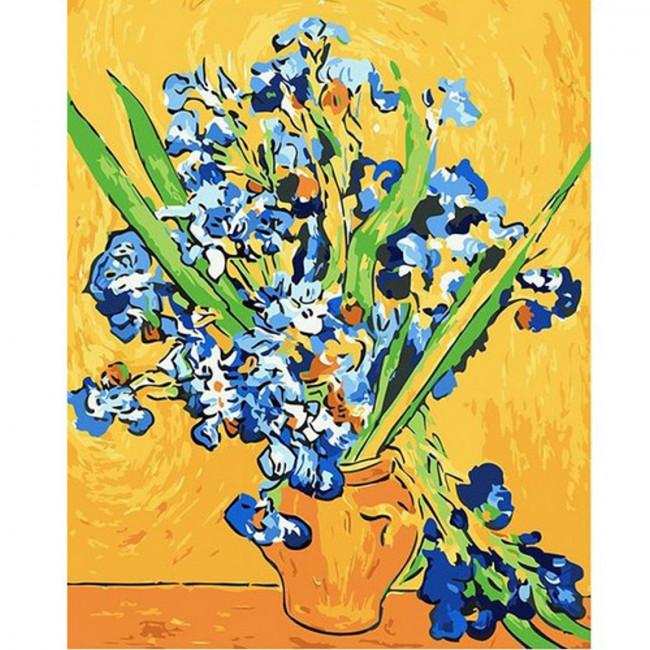 Kit pictura pe numere cu personalitati si picturi celebre, The story of flowers
