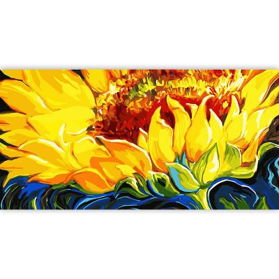 Kit pictura pe numere cu flori, Sunflower Love