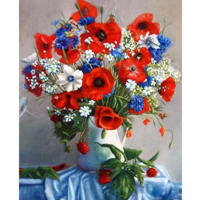 Kit pictura pe numere cu flori, Beautiful bouquet