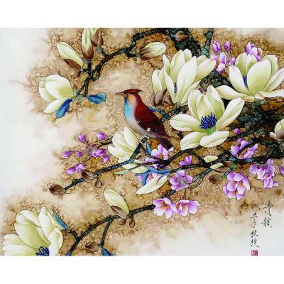 Kit pictura pe numere cu pasari, Nature's Painting
