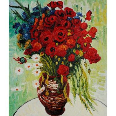 Kit pictura pe numere cu flori, DTP808