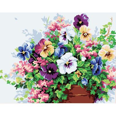 Kit pictura pe numere cu flori, Terrace Flowers