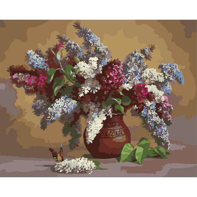 Kit pictura pe numere cu flori, Floral Painting