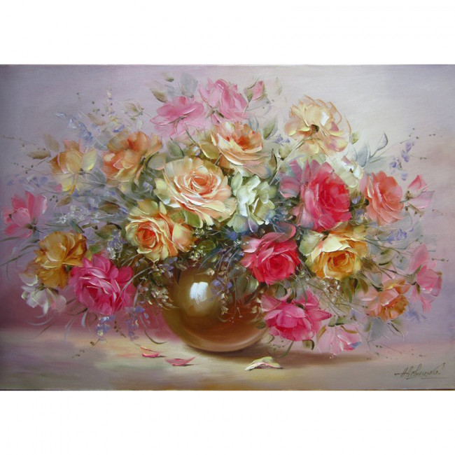 Kit pictura pe numere cu flori, Marvelous Flowers