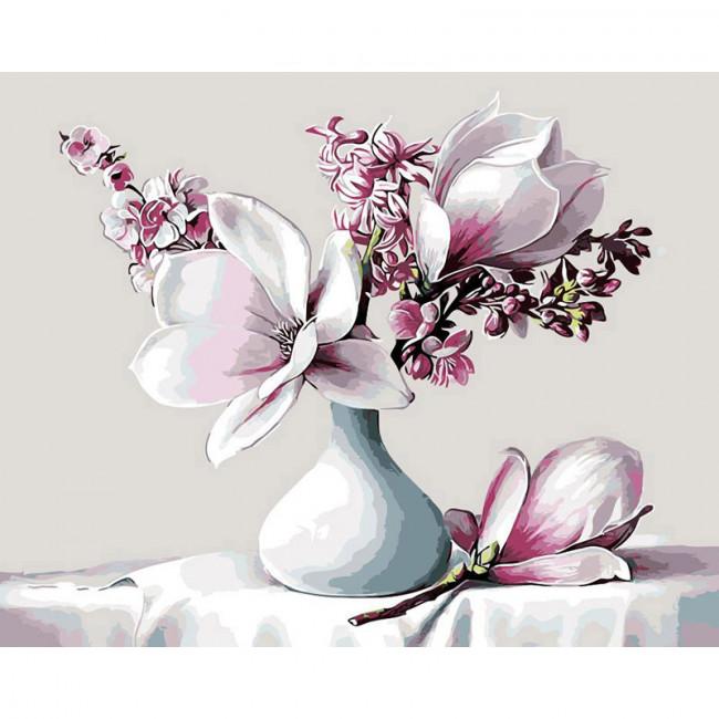 Kit pictura pe numere cu flori, Delicacy