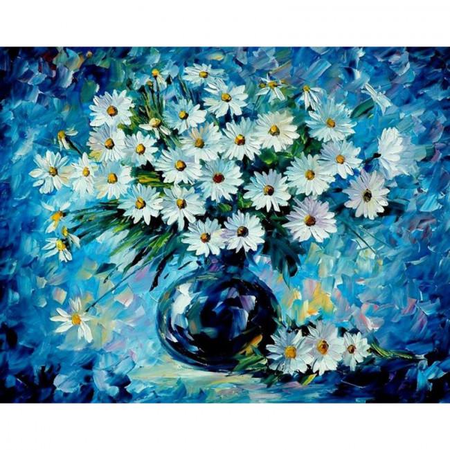 Kit pictura pe numere cu flori, DTP485
