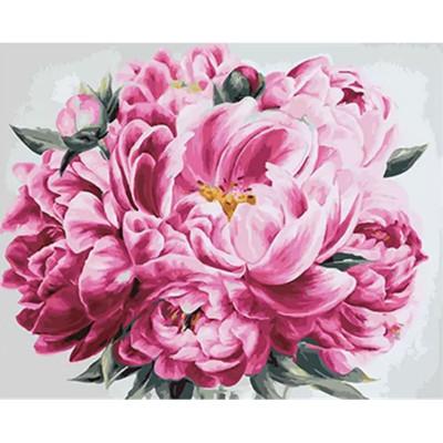 Kit pictura pe numere cu flori, DTP958