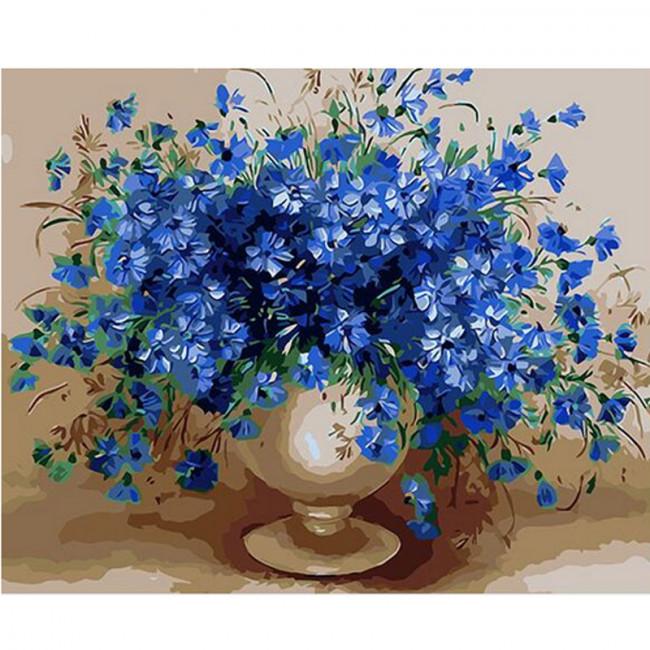 Kit pictura pe numere cu flori, DTP1846