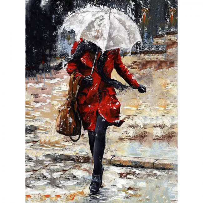 Kit pictura pe numere cu oameni, Running from the Rain