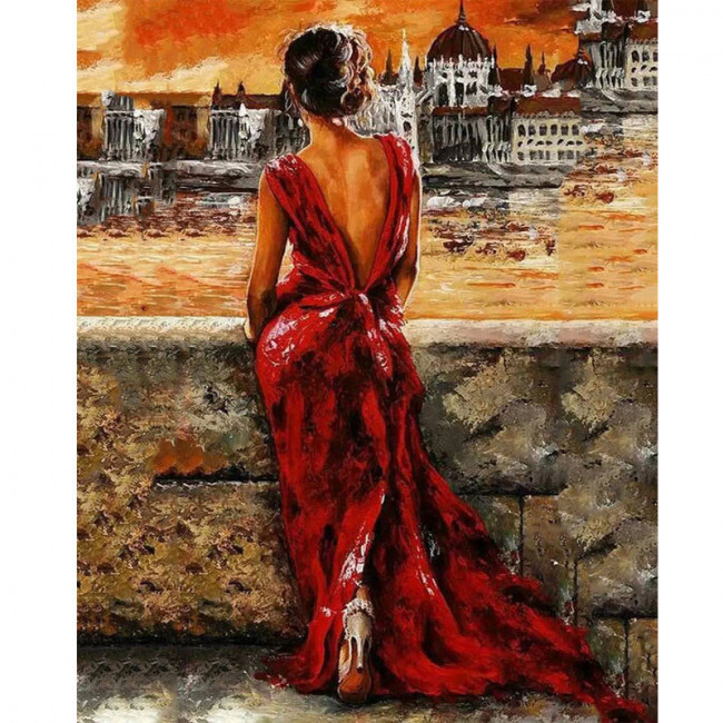 Kit pictura pe numere cu oameni, Admiring the View