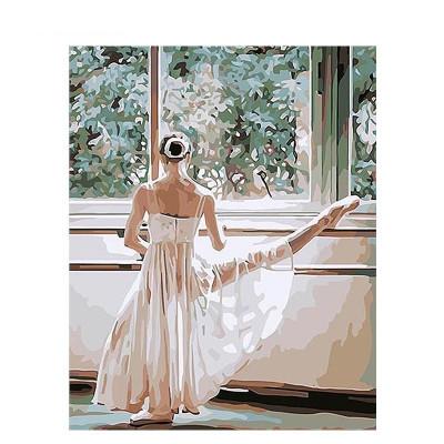 Kit pictura pe numere cu oameni, Graceful Ballerina