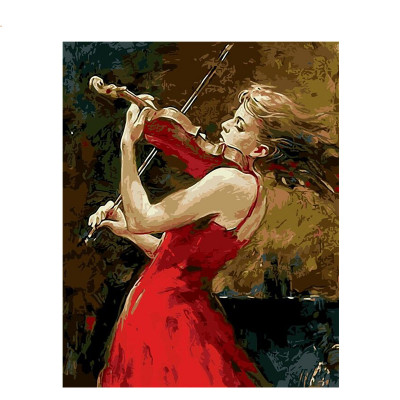Kit pictura pe numere cu oameni, Girl Violonist