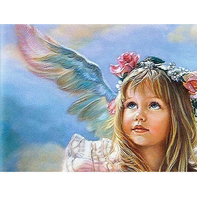 Kit pictura pe numere cu religioase, Baby Angels