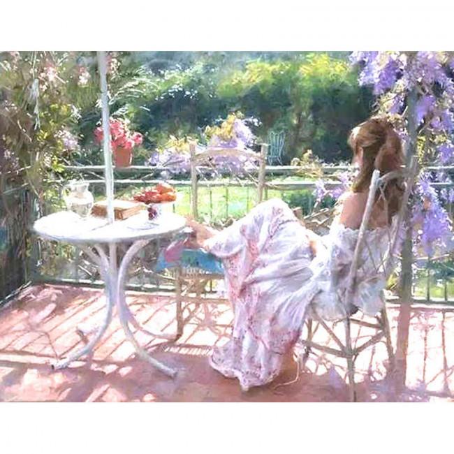 Kit pictura pe numere cu oameni, Girl in the Garden