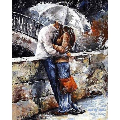 Kit pictura pe numere cu oameni, Love Grows Under the Umbrella