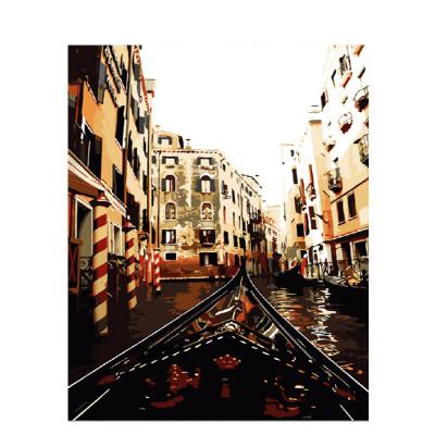 Kit pictura pe numere cu orase, Canals of Venice