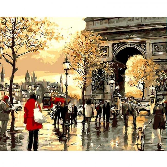 Kit pictura pe numere cu orase, Walking Around