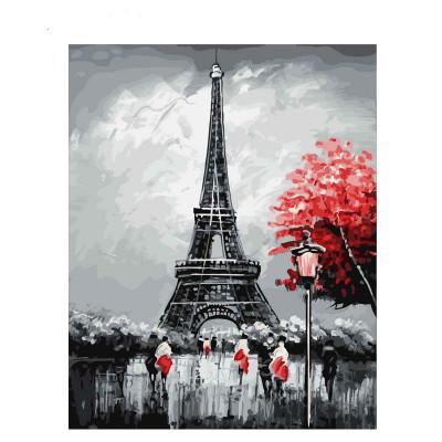 Kit pictura pe numere cu orase, Charming Paris