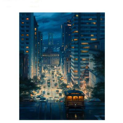 Kit pictura pe numere cu orase, Night view