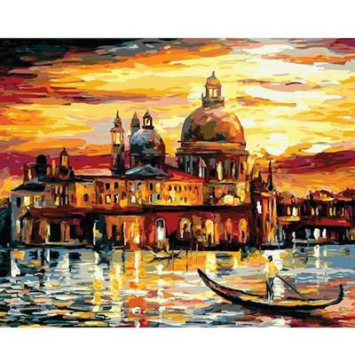 Kit pictura pe numere cu orase, A boat ride