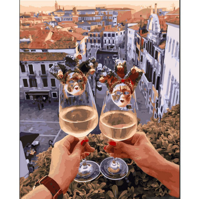 Kit pictura pe numere cu orase, Cheers! For the theatre of our life