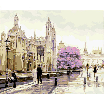 Kit pictura pe numere cu orase, Tourists