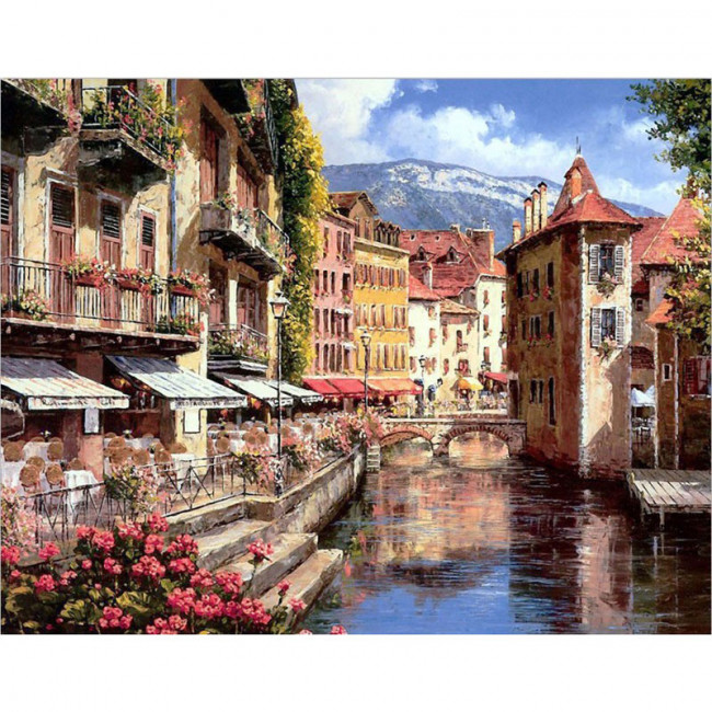 Kit pictura pe numere cu orase, DTP207