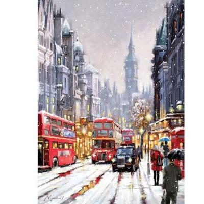 Kit pictura pe numere cu iarna, DZ1277