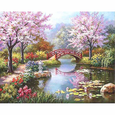 Kit pictura pe numere cu peisaje, Spring is Here