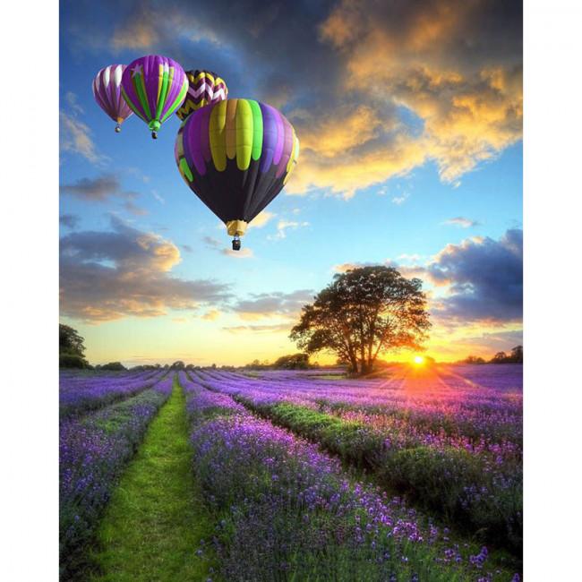 Kit pictura pe numere cu peisaje, Up Up in the Sky