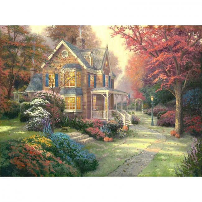 Kit pictura pe numere cu peisaje, Hidden Paradise