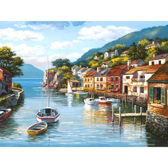 Kit pictura pe numere cu peisaje, By the Sea