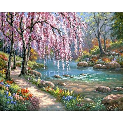 Kit pictura pe numere cu peisaje, Path to Happiness
