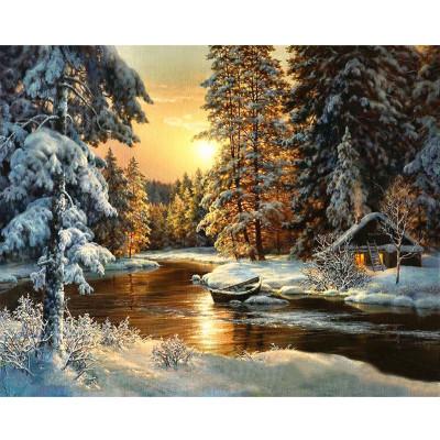 Kit pictura pe numere cu iarna, Winter Fairytale