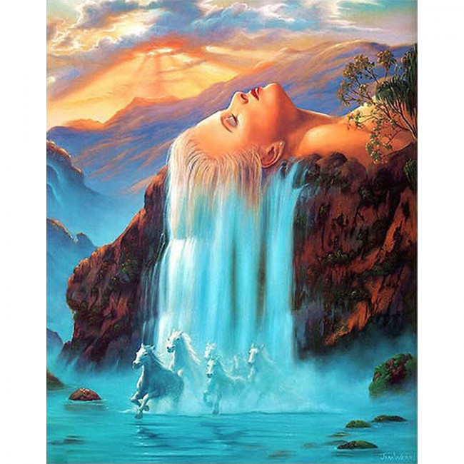 Kit pictura pe numere cu peisaje, Fantasy