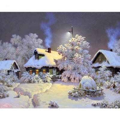 Kit pictura pe numere cu iarna, Winter Night