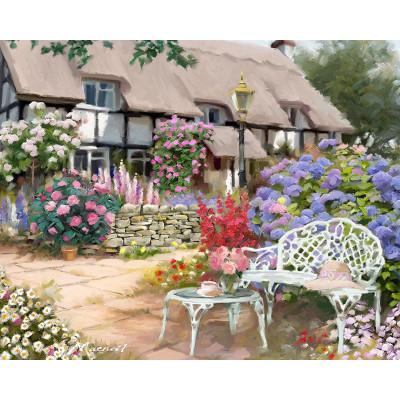 Kit pictura pe numere cu peisaje, Garden Scene