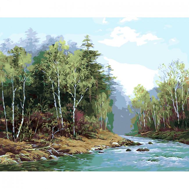 Kit pictura pe numere cu peisaje, DTP2277