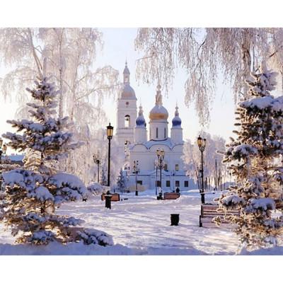 Kit pictura pe numere cu iarna, DTP2367