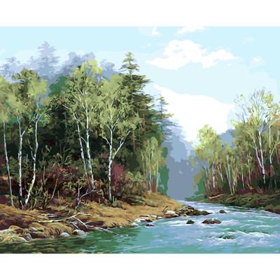 Kit pictura pe numere cu peisaje, DTP2393