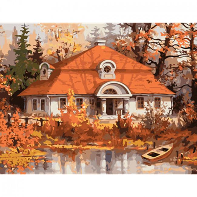 Kit pictura pe numere cu peisaje, DTP315