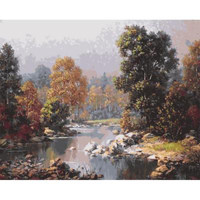 Kit pictura pe numere cu peisaje, DTP2500