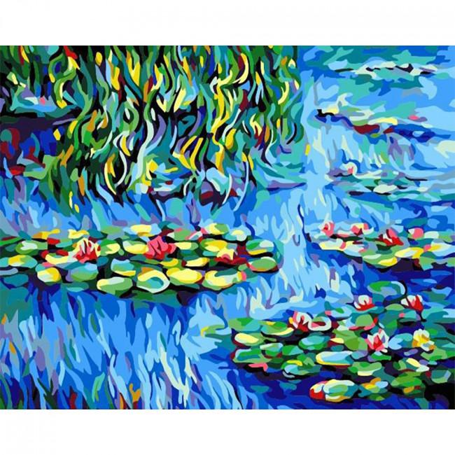 Kit pictura pe numere cu peisaje, DTP2506