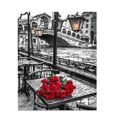 Kit pictura pe numere cu peisaje, Sanctuary of Nobility, I bought you flowers