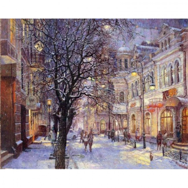 Kit pictura pe numere cu iarna, Holyday Season