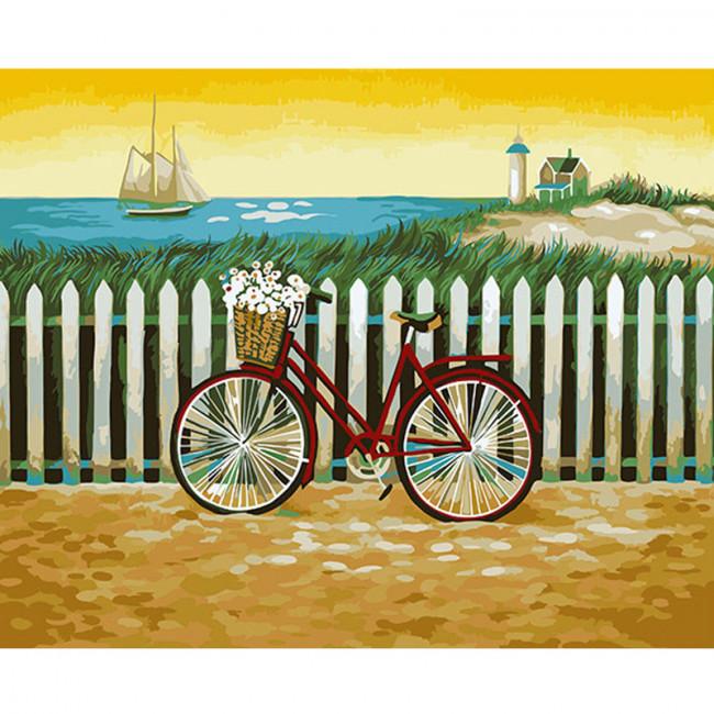 Kit pictura pe numere cu peisaje, Beautiful Lives of Honest Folks