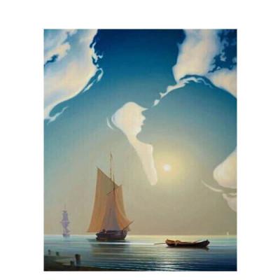 Kit pictura pe numere cu peisaje, Horizon Shapes